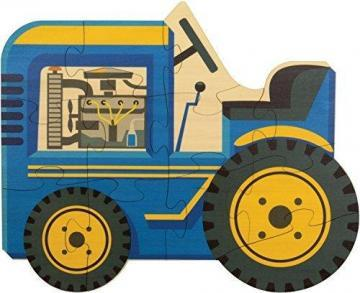 Maple Landmark Tractor Shaped Puzzle