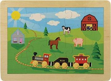 "Maple Landmark 11"" x 15"" Countryside Railroad Puzzle"