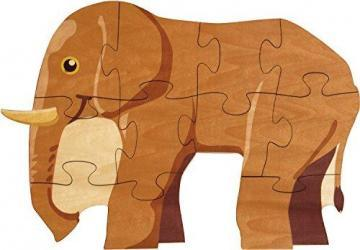 Maple Landmark Elephant Shaped Puzzle