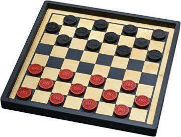 Maple Landmark Train Checkers with Premium Board