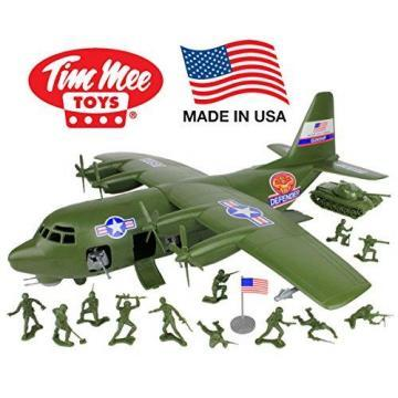 Tim Mee Plastic Army Men C130 Playset: 27pc Giant Military Airplane