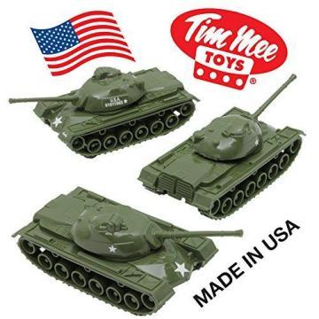 Tim Mee TANKS for Plastic Army Men: Green WW2 3pc