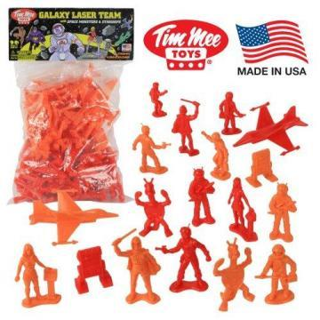 Tim Mee Galaxy Laser Team SPACE Figures: Red vs Orange 50pc Set