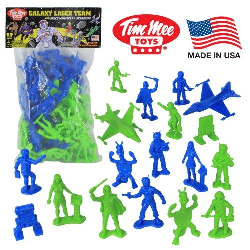 Tim Mee Galaxy Laser Team SPACE Figures: Blue vs Green 50pc Set
