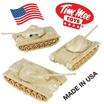 Tim Mee Toy TANKS for Plastic Army Men: Tan WW2 3pc