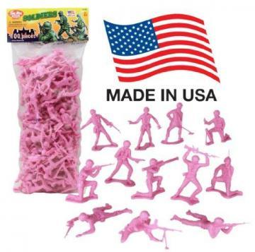 Tim Mee Plastic Army Men Pink 100pc Toy Soldier Figures