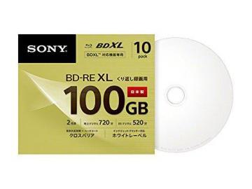 Sony Blu-Ray 100GB BD-RE BDXL 3D Printable Disc 10-Pack