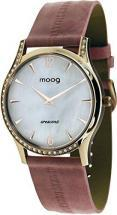 Moog Paris Crescent Women's Watch with white dial, pink strap
