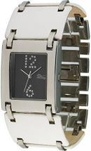 Moog Paris All in one Women's Watch with black dial, white strap