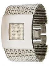 Moog Paris Damier Women's Watch with silver dial, silver strap