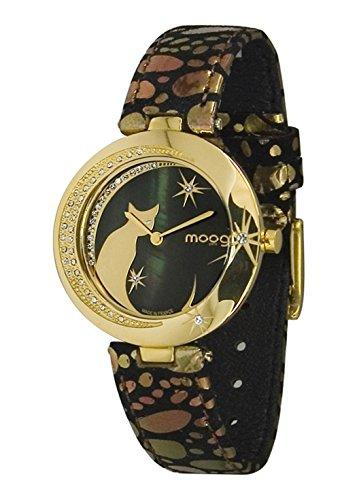 Moog Paris Lucille Women's Watch with black dial, black and gold strap