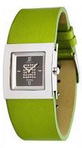 Moog Paris Harmony Women's Watch with black dial, green strap