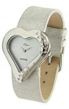 Moog Paris Heart Women's Watch with silver dial, silver strap