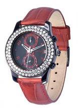 Moog Paris Heritage Women's Chronograph Watch with black and red dial