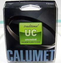 Calumet 72mm UV Traditional Uncoated Filter