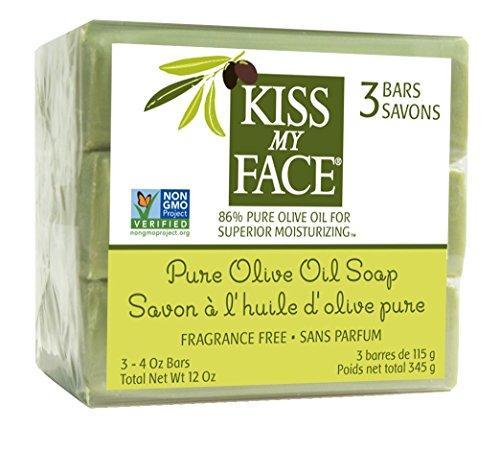 Kiss My Face Naked Pure Olive Oil Soap, Moisturizing Bar Soap