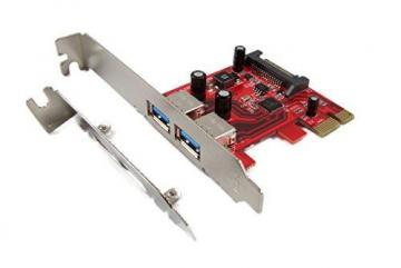 Ableconn PEX-UB108 USB 3.0 2-Port PCI Express (PCIe) Host Adapter Card