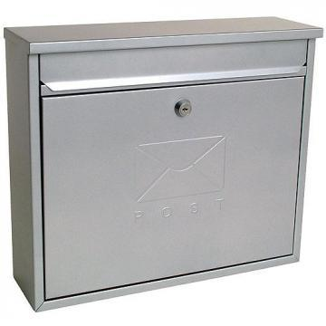 Sterling Security Elegance Post Box Silver Powder Coated