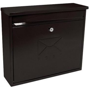 Sterling Security Elegance Post Box Black Powder Coated
