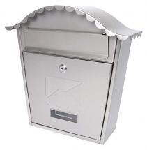 Sterling Security Classic Post Box White Powder Coated