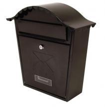 Sterling Security Classic Post Box Black Powder Coated