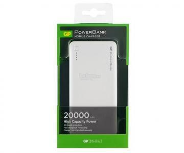GP Portable Power Bank Phone Charger 20,000mAh Black