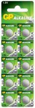 GP Alkaline Button Cell 1.5V Batteries LR44 10 Pack