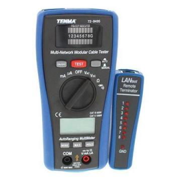 Tenma 2-in-1 LAN Tester and Digital MultiMeter with a 3.5 Digit LCD Display