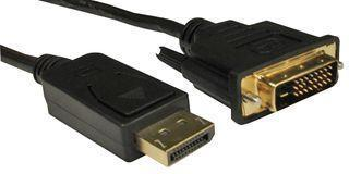 Pro Signal DisplayPort Male to DVI-D Male Lead, 1m Black