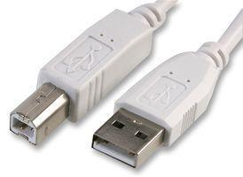 Pro Signal 3m White A Plug to B Plug USB 2.0 Cable