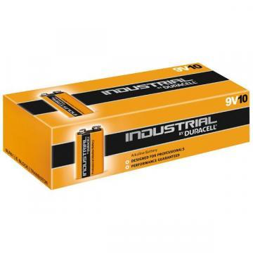Duracell Industrial 9V PP3 Batteries, 10 Pack