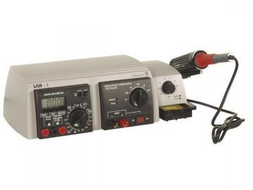 Velleman 3-In-1 Lab Unit with Multimeter and Soldering Iron Station