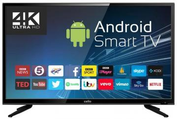 "Cello 40"" 4K Ultra-HD Smart LED TV Freeview HD"