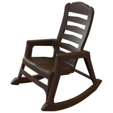 Adams Stacking Rocking Chair, Ergonomic, Resin, Earth Brown