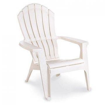 Adams RealComfort Adirondack Chair, Ergonomic, White