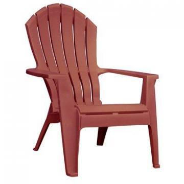 Adams RealComfort Adirondack Chair, Ergonomic, Resin, Merlot