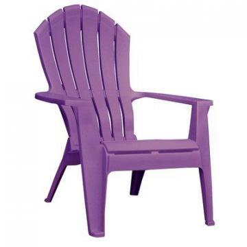 Adams RealComfort Adirondack Chair, Ergonomic, Resin, Bright Violet
