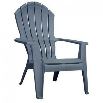 Adams RealComfort Adirondack Chair, Ergonomic, Resin, Bluestone