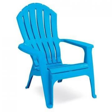 Adams RealComfort Adirondack Chair, Ergonomic, Pool Blue