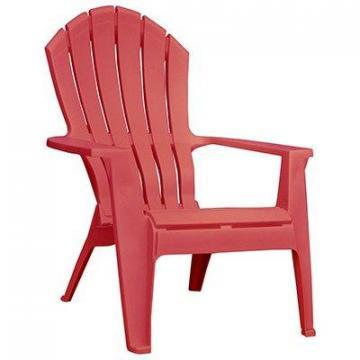 Adams RealComfort Adirondack Chair, Ergonomic, Cherry Red