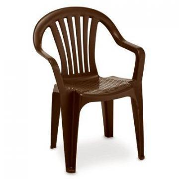 Adams Low-Back Stacking Chair, Resin, Matte Earth Brown