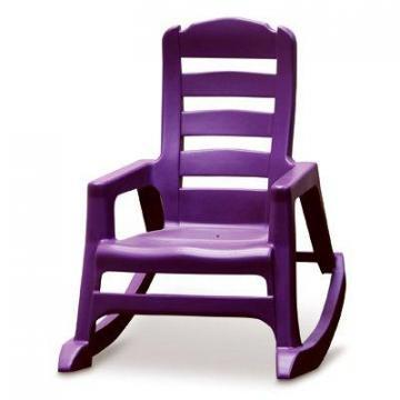 Adams Kids' Lil' Easy Rocking Chair, Bright Violet