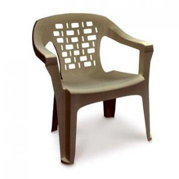Adams Big Easy Stacking Chair, For Larger Body Types, Resin, Portobello
