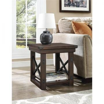 Ameriwood Home Wildwood Wood Mahogany Veneer End Table