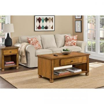 Ameriwood Home San Antonio Wood Veneer Coffee Table