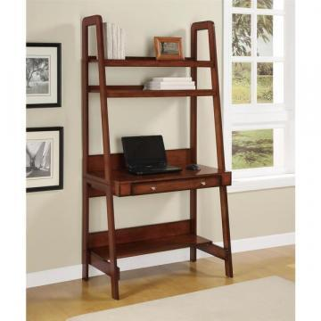 Ameriwood Home Platform Mahogany Ladder Desk