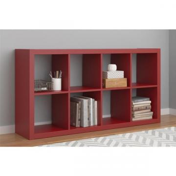 Ameriwood Home Parsons Red Hollow Core 8 Cube