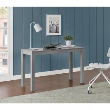Ameriwood Home Parsons Grey XL Desk with 2 Drawers