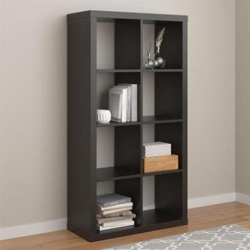 Ameriwood Home Parsons Espresso Hollow Core 8 Cube