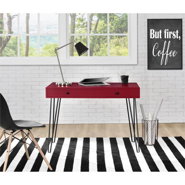 Ameriwood Home Owen Red Retro Student Desk